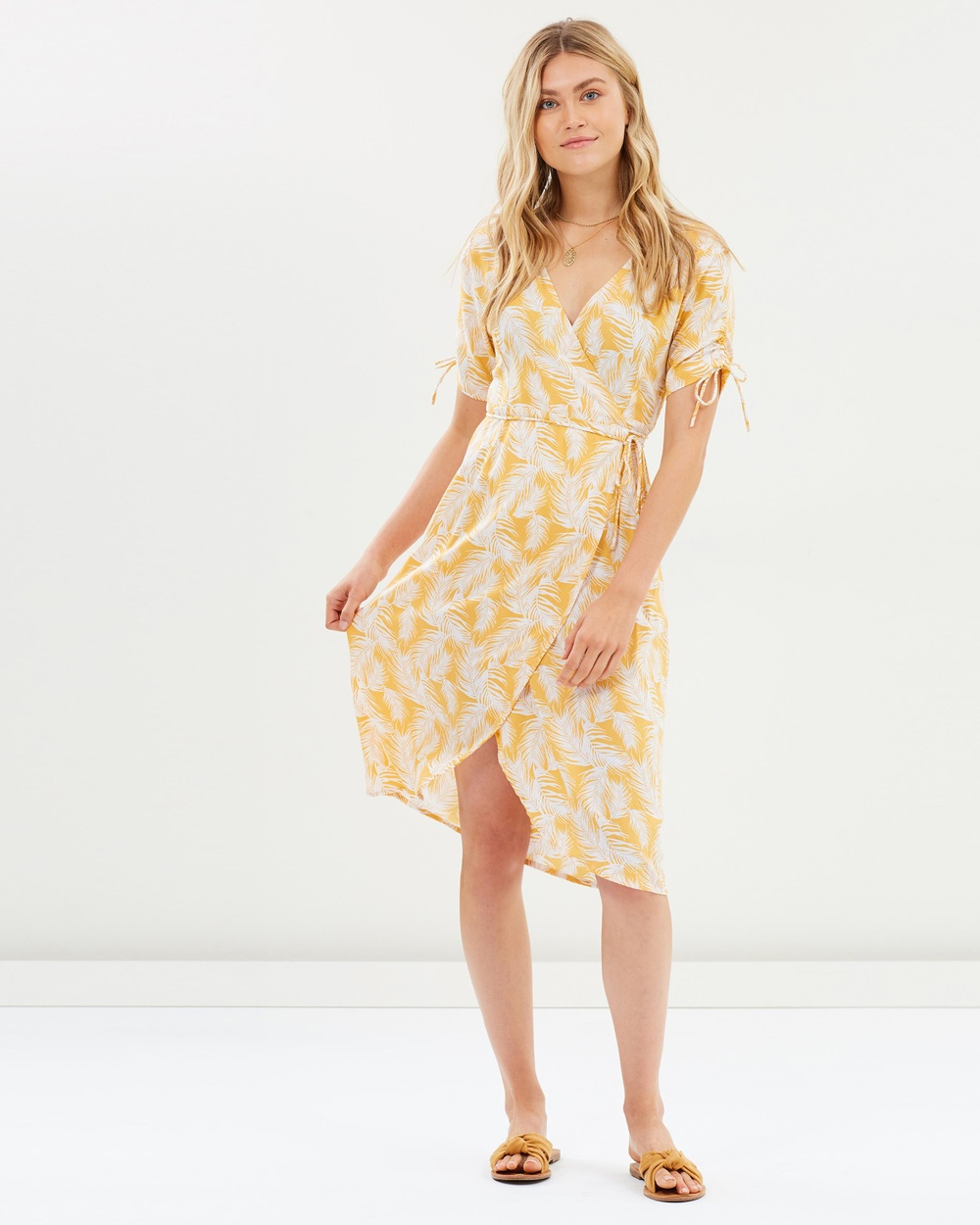 Rue Stiic Honey Palm Josey Midi Dress