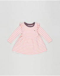 Tommy Hilfiger - Baby Rugby Stripe Long Sleeve Dress - Babies