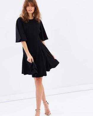 C/MEO COLLECTIVE – Divergent Mini Dress Black