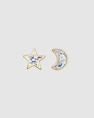 Elli Jewelry Kids - Earrings Kids Astro Stud Swarovski® Crystals 925 Sterling Silver - Jewellery (Gold)