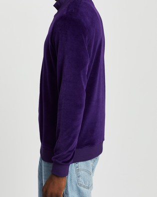 Everloom Zip Thru Velour Sweat - Sweats (Purple)