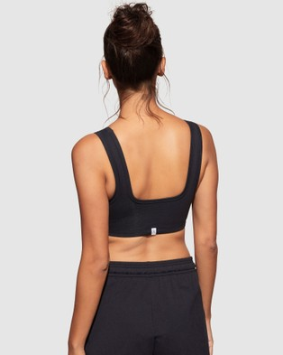 dk active All Day Cotton Bralette - Crop Tops (Navy)