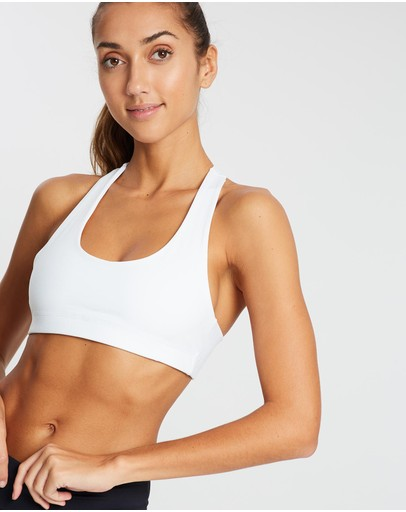 Ave Activewoman Classic Racer Back Sports Bra White