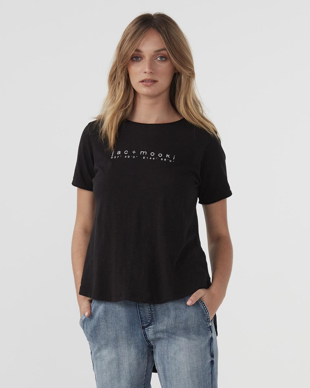 Jac & Mooki Kendall Tee T-Shirts Singlets black T-Shirts Australia