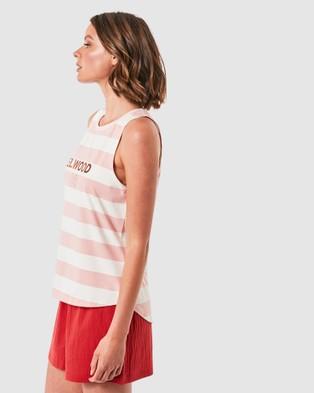 Elwood Rosie Tank - Singlets (Pink Stripe)