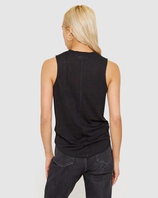 Jag Ava Linen Tank - T-Shirts & Singlets (black)