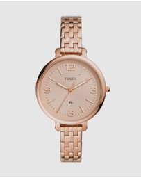 Fossil - Monroe Rose Gold-Tone Analogue Watch