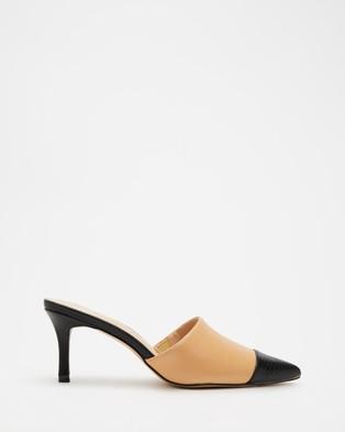 Dazie - Charlie Heels Mid-low heels (Beige Smooth)