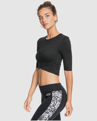 Roxy Womens Honolulu My Love Cropped Sports Top - Cropped tops (Anthracite)
