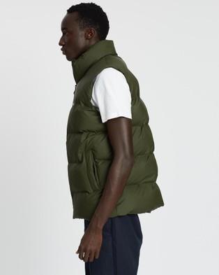 RAINS Puffer Vest   Unisex - Coats & Jackets (Green)