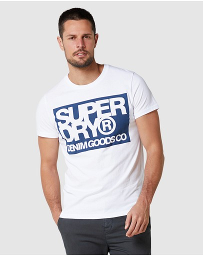 Superdry Denim Goods Co Print Tee Optic