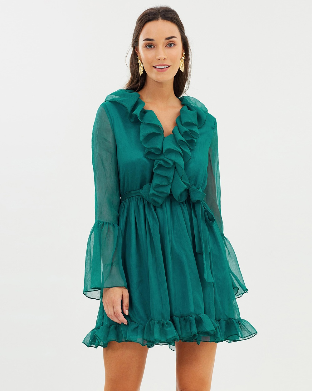 Mossman A Whisper of Fate Mini Dress Dresses Teal A Whisper of Fate Mini Dress