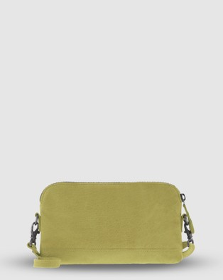 Cobb & Co Kendra Leather Crossbody - Handbags (Citrus)