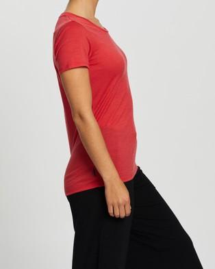 Icebreaker Tech Lite Short Sleeve Low Crew Tee - Short Sleeve T-Shirts (Fire)