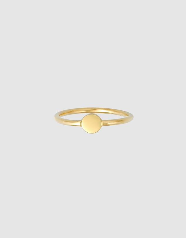 Women Ring Stacking Trend Platelet Basic in 925 Sterling Silver Gold Plated