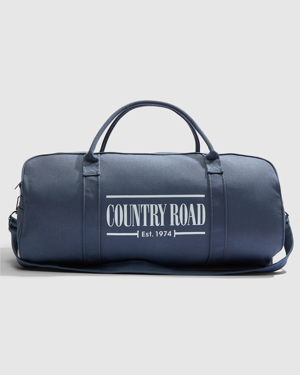 Country Road Heritage Zip Canvas Tote Bags blue