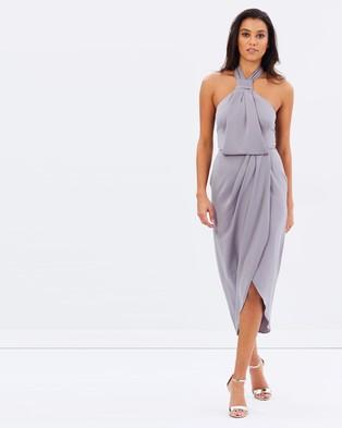 Shona Joy – Core Knot Draped Dress – Bridesmaid Dresses (Grey)