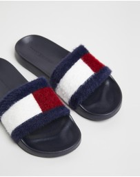 Tommy Hilfiger - Flag Furry Pool Slides