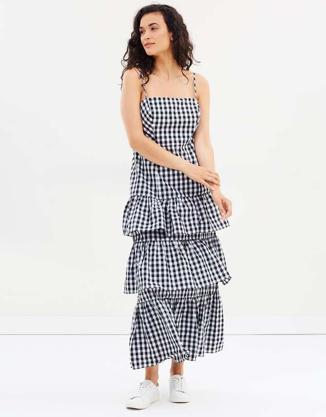 803f53f9df Dabble Gingham Long Gown