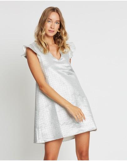 Lenni The Label Calcite Mini Dress Silver
