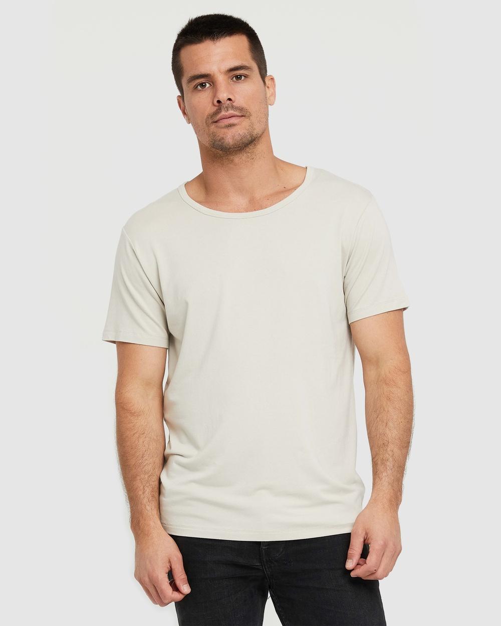 Bamboo Body - Bamboo Crew Neck T Shirt - T-Shirts & Singlets (Bone) Bamboo Crew Neck T-Shirt