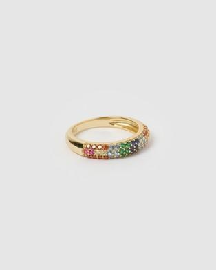 Izoa Riley Ring Multi Gold - Jewellery (Gold)