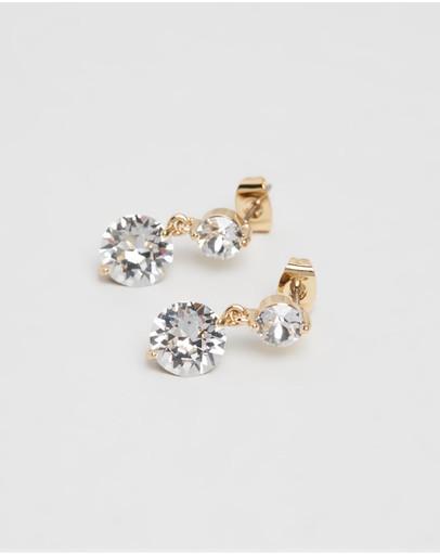 Mestige Natalie Earrings With Swarovski® Crystals Gold