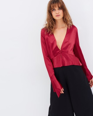 Buy Bec & Bridge - Decadent LS Top Cherry -  shop Bec & Bridge swimwear online