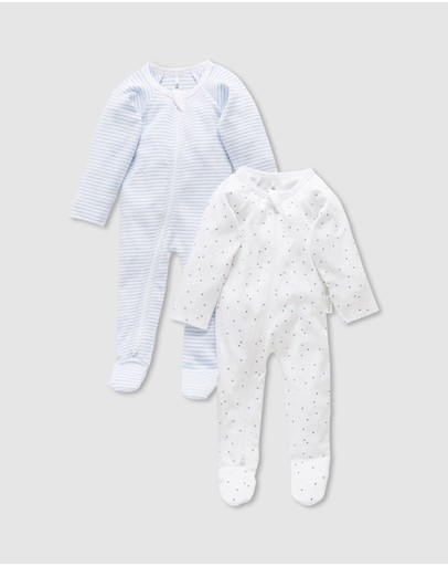 Purebaby - 2-Pack Zip Growsuit - Babies