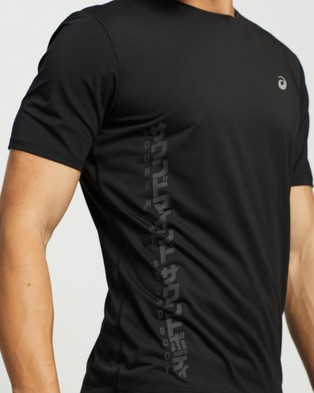 ASICS Run SS Top - Short Sleeve T-Shirts (Graphite Grey & Silver)