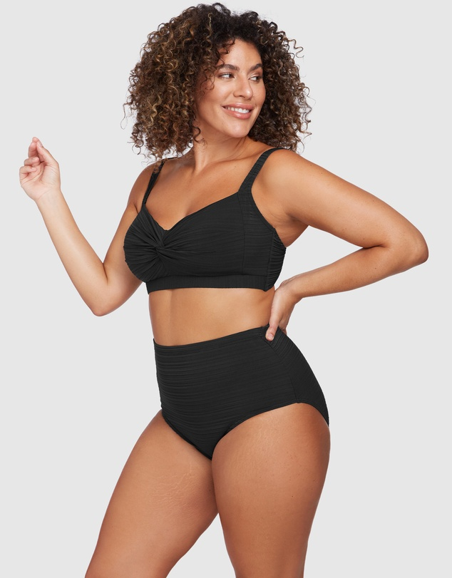 Women Aria Black High Waist Swim Pant