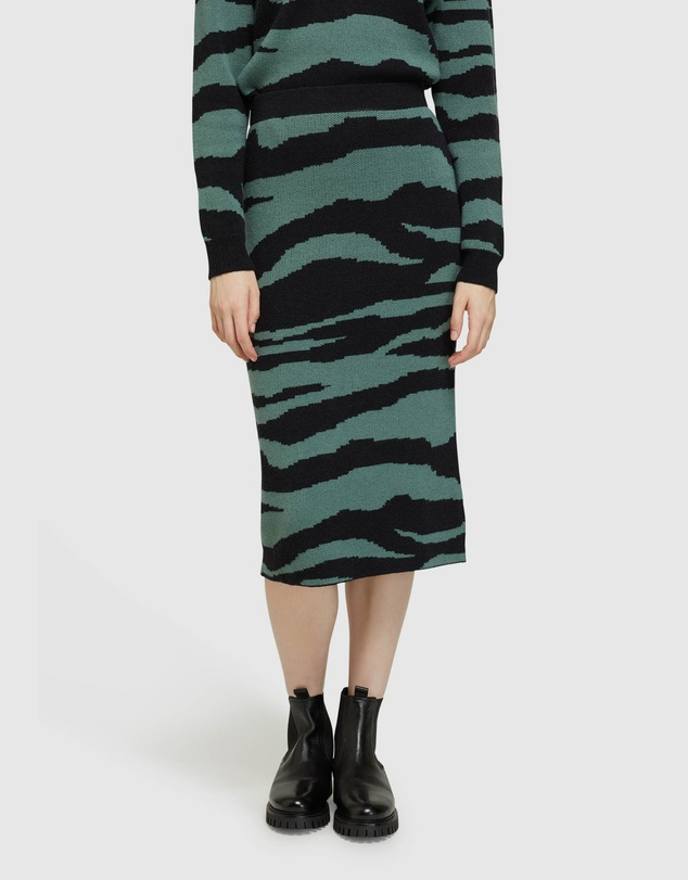 Oxford - Katie Knitted Animal Print Skirt
