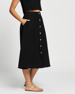 Atmos&Here Reese Cotton Skirt - Skirts (Black)