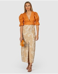 The Wolf Gang - Fes Embroidered Maxi Skirt