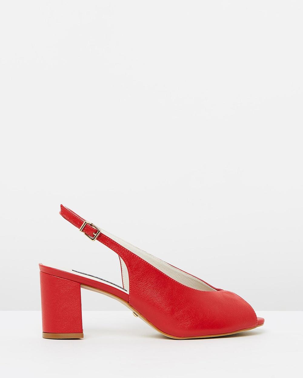 Nina Armando Avalyn Heels Mid-low heels Soft Red Avalyn Heels