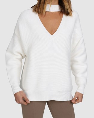Madison The Label Frida Knit - Jumpers & Cardigans (White)