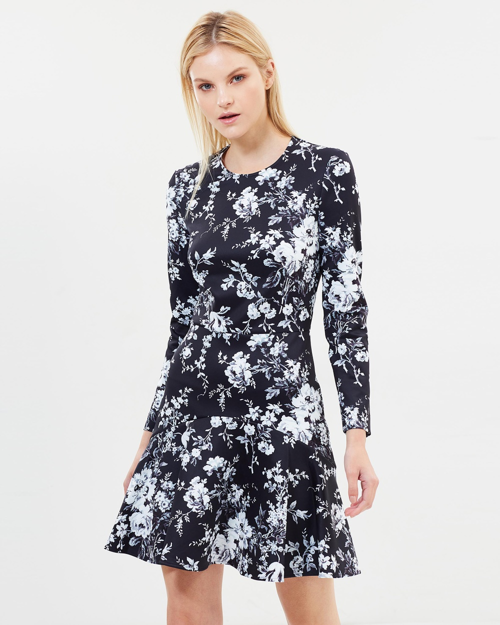 Lover Sonnet Mini Flip Dress Printed Dresses Black Sonnet Mini Flip Dress