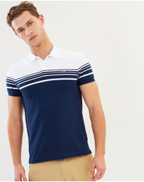 Lacoste - Slim Fit Colour-Block Stripe Polo