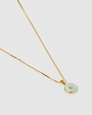 Arms Of Eve Bohdi Gold and Amazonite Necklace - Jewellery (Gold)