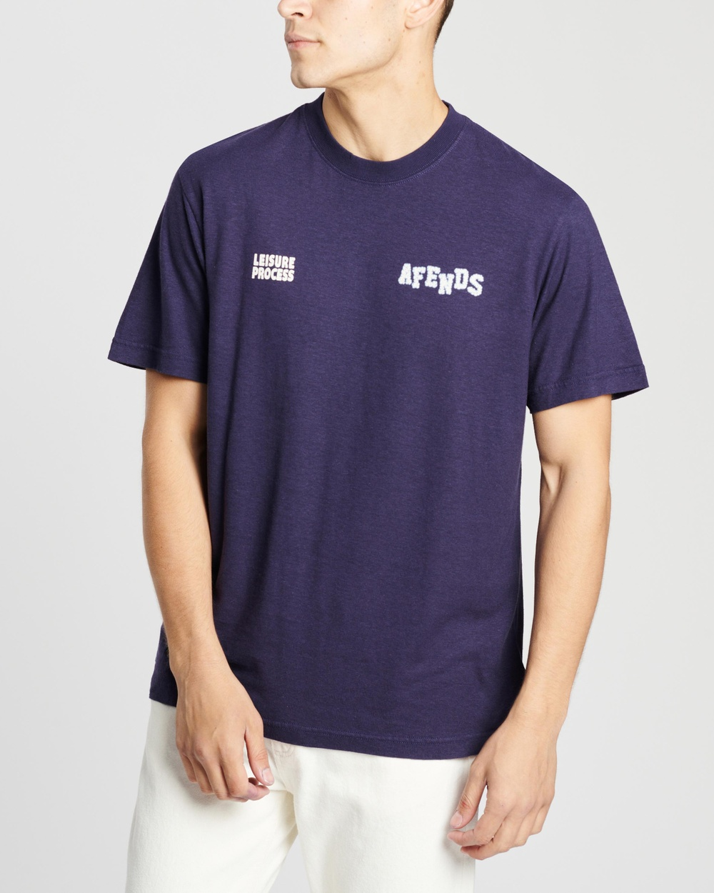 Afends Max Relax Hemp Retro Fit Tee T-Shirts & Singlets Navy
