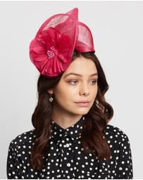 Max Alexander - Sinamay Twist with Flower Fascinator