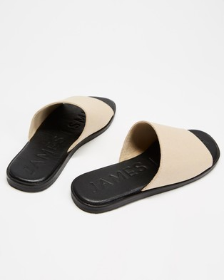 JAMES | SMITH Off Duty Elevate - Sandals (Cream Canvas)