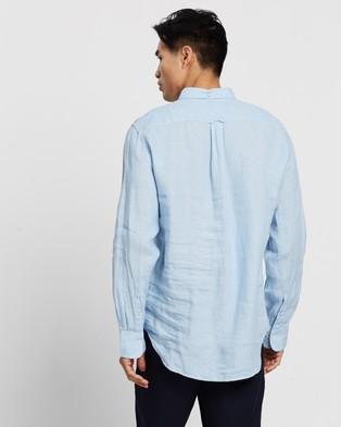 Gant The Linen Regular Button Down Shirt - Casual shirts (Capri Blue)