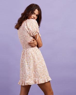 Dazie - Parisian Mini Dress - Dresses (Pink Floral) Parisian Mini Dress