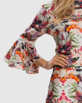 Aqua Blu Australia Delilah Peplum Dress - Printed Dresses (Multi)