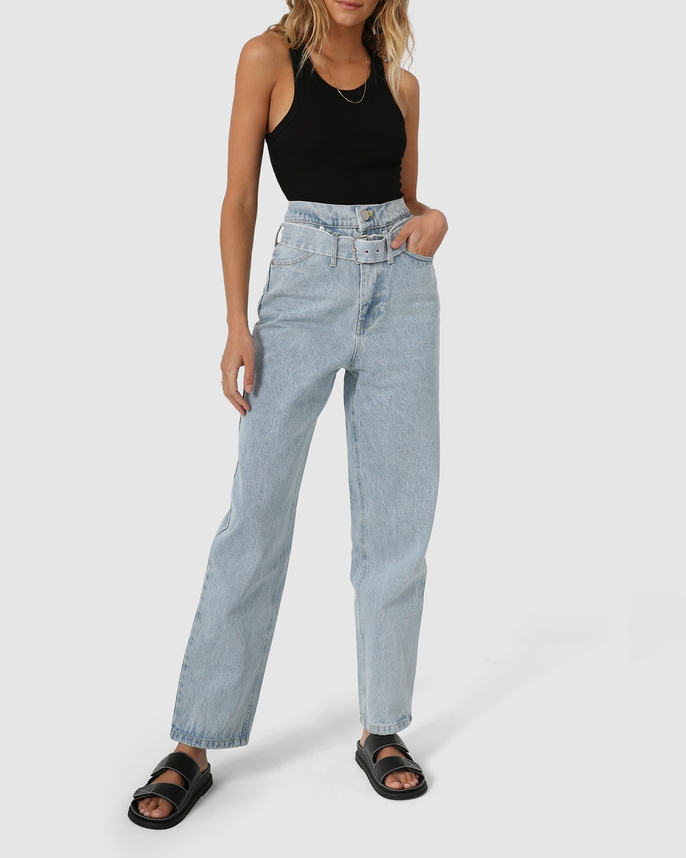 Madison The Label Olympus Jeans High-Waisted Blue Australia