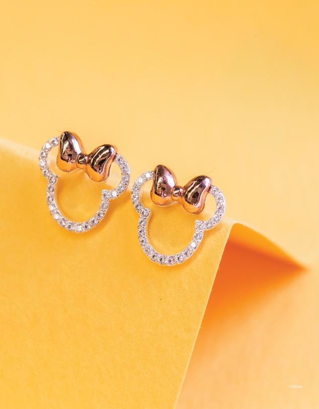 Women Disney Diamante Minnie Ears Stencil