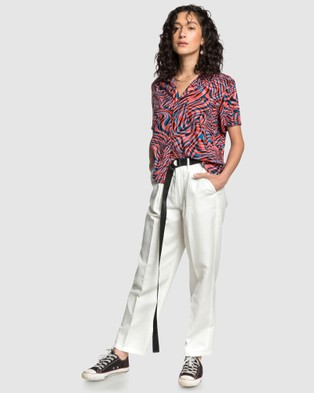 Quiksilver Quiksilver Womens High Waisted Tapered Trousers - Pants (Snow White)