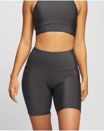 Brasilfit - High-Waisted Bike Shorts with Pockets