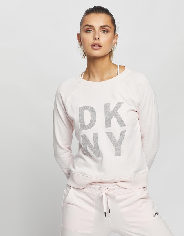 DKNY - Terry Foil Stacked Logo Sweatshirt